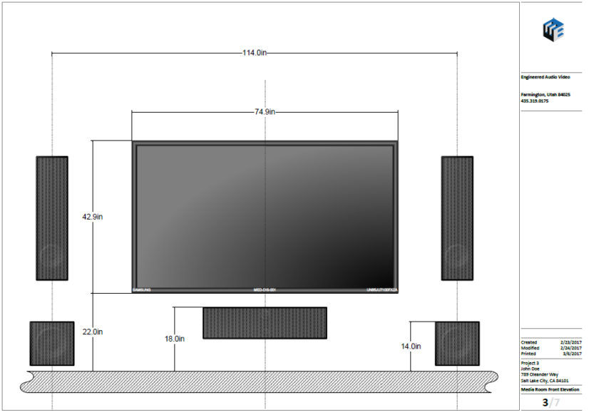 Home Theater Elevation View